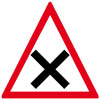 France Road Sign: Junction Ahead